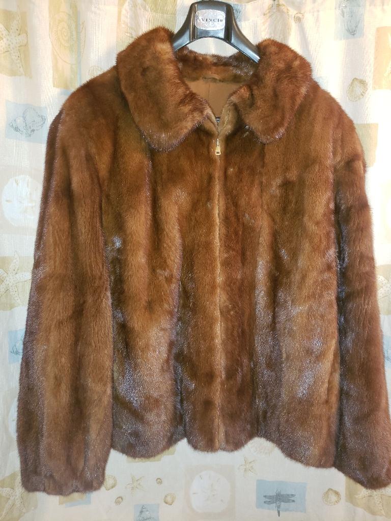 Full skin mink mens jacket