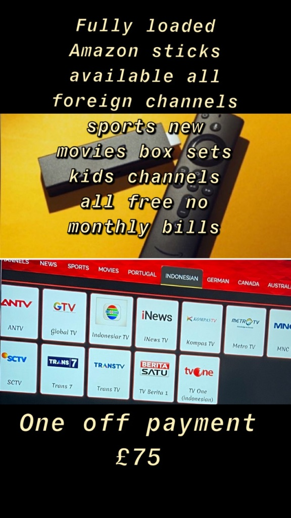 Live sports streaming movie boxset more