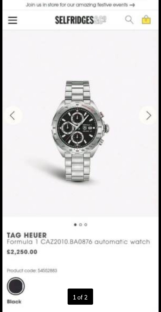 Tag Heuer Mens Formula 1 Watch *brand new*
