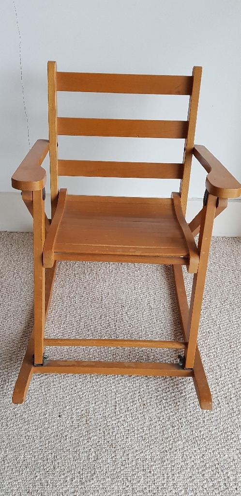 Childs Vintage Wooden Rocking Chair