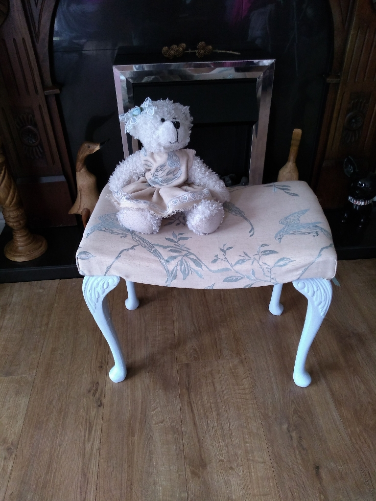 One of a kind Upcycled seat with matching teddy