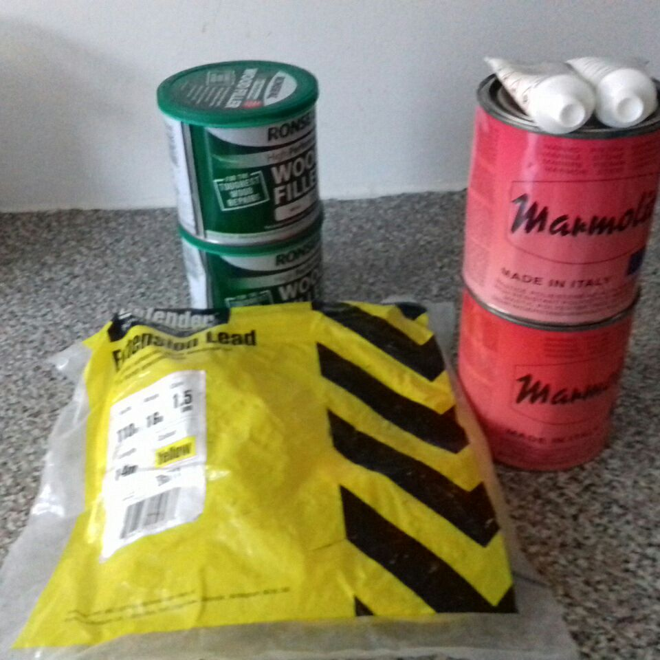 Wood filler,adhesive for stone,granite and marble.And extension lead