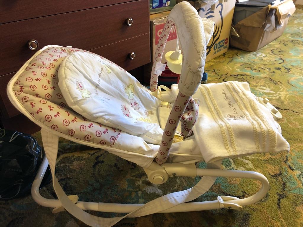 Groovy Winnie The Pooh Mothercare Vibrating Rocker Short Links Chair Design For Home Short Linksinfo
