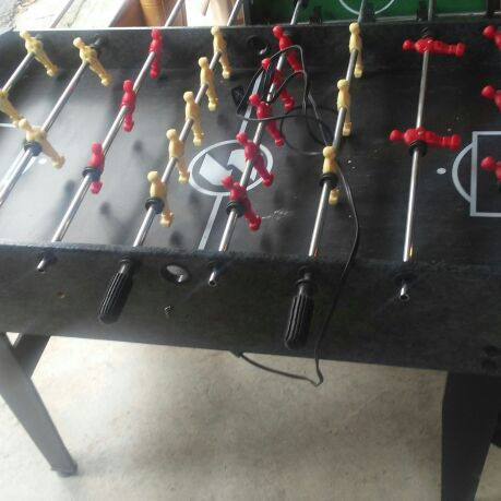 Foose ball table also a air hockey table