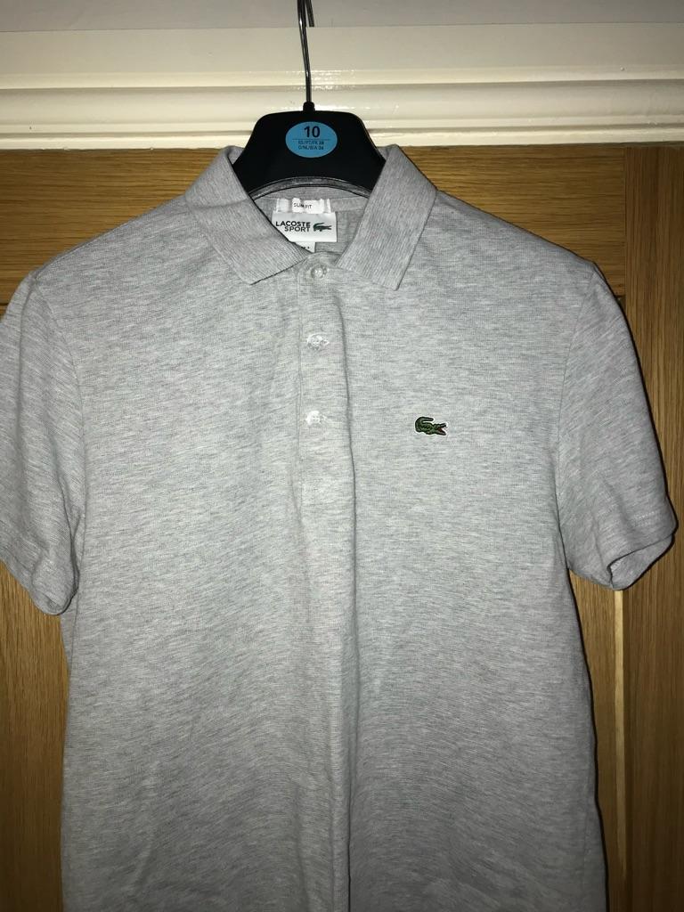 Grey Lacoste polo shirt