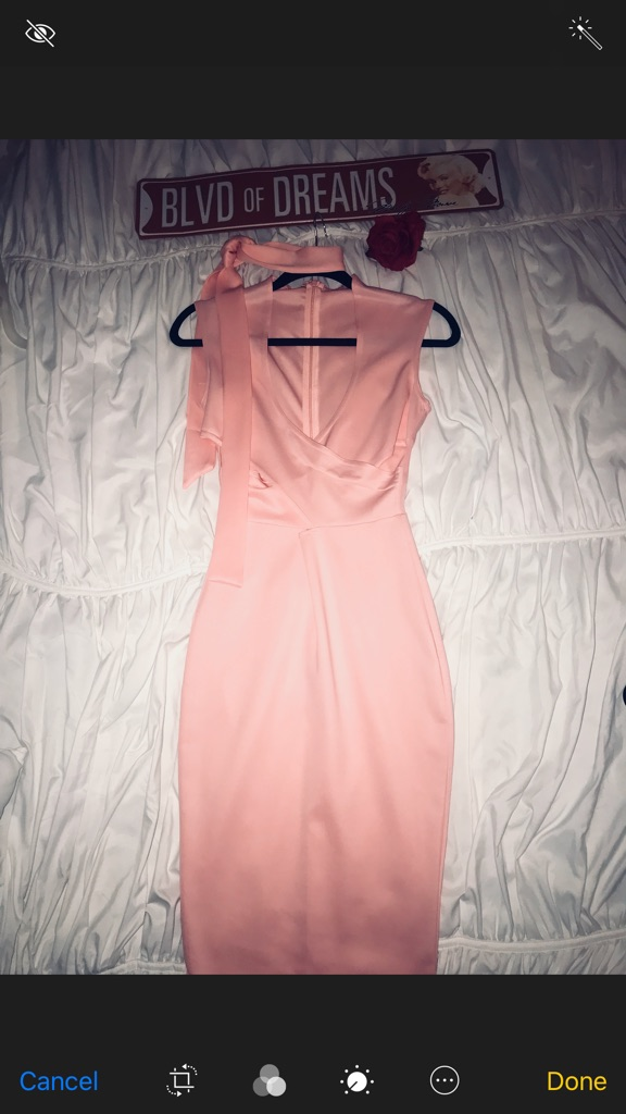 Pink Cross Wrap Cut Out Bodycon Midi Dress
