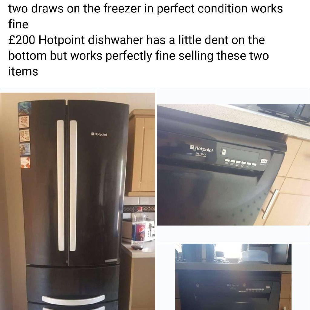 Hotpoint Fridge/freezer and Hotpoint dishwasher