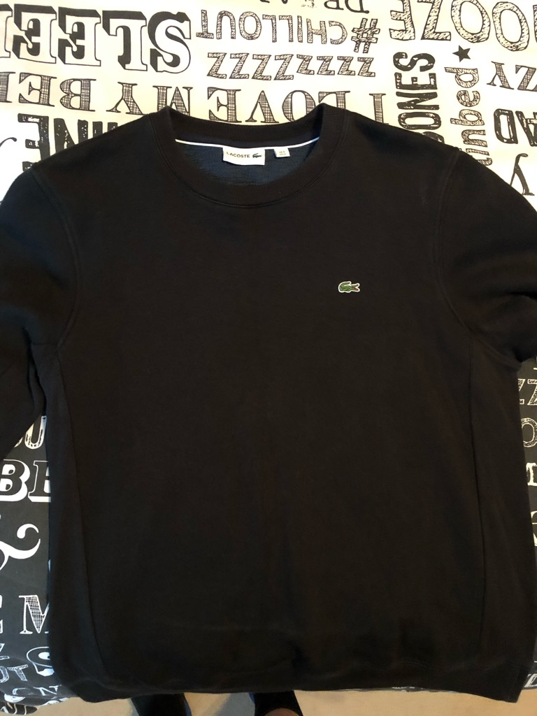 Lacoste black sweatshirt