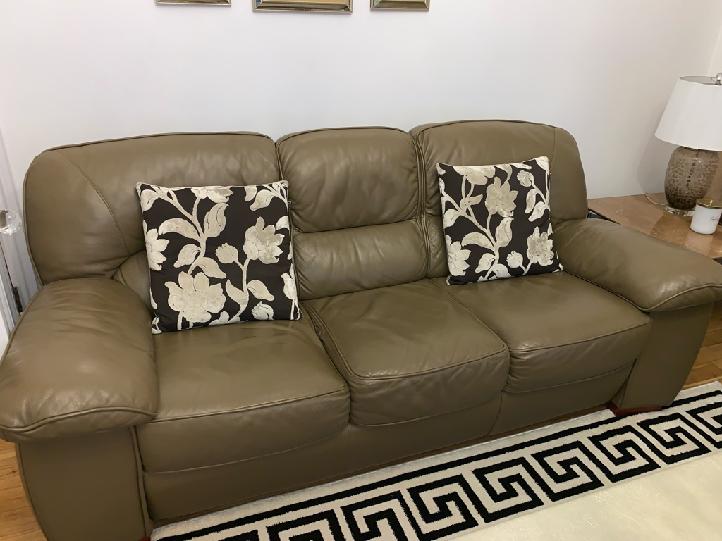 Genuine Real Leather Sofa Set