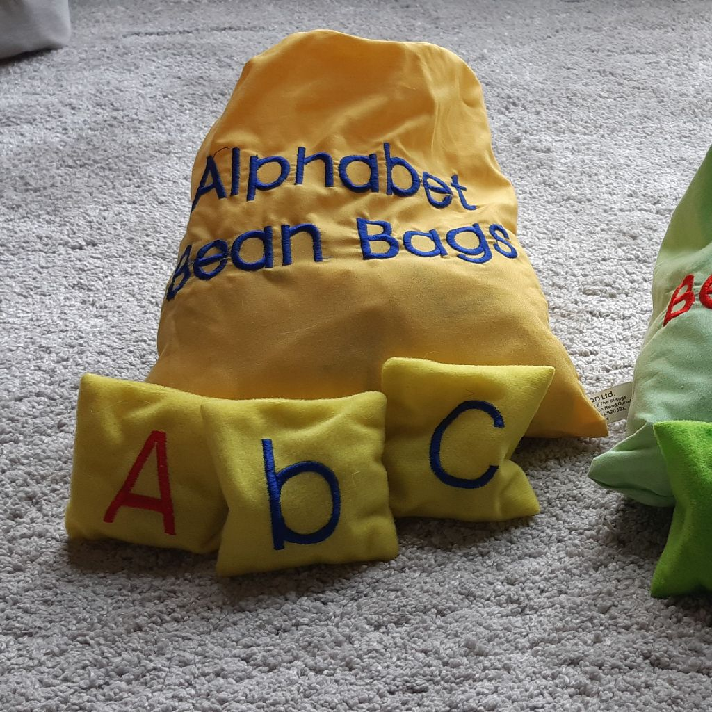 Alphabet and Numbers Beanbags