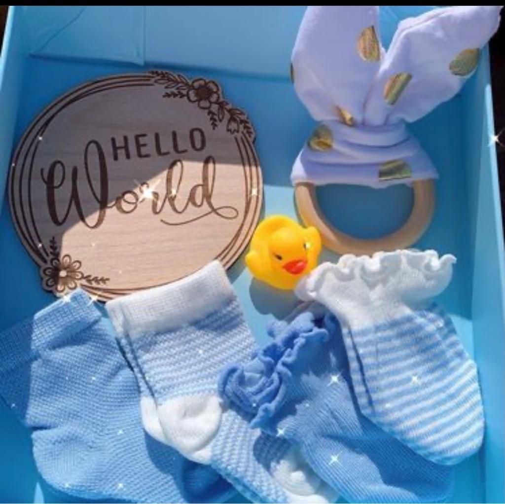 Baby boy announcement gift