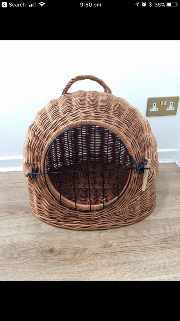Beautiful pet carrier basket bed den