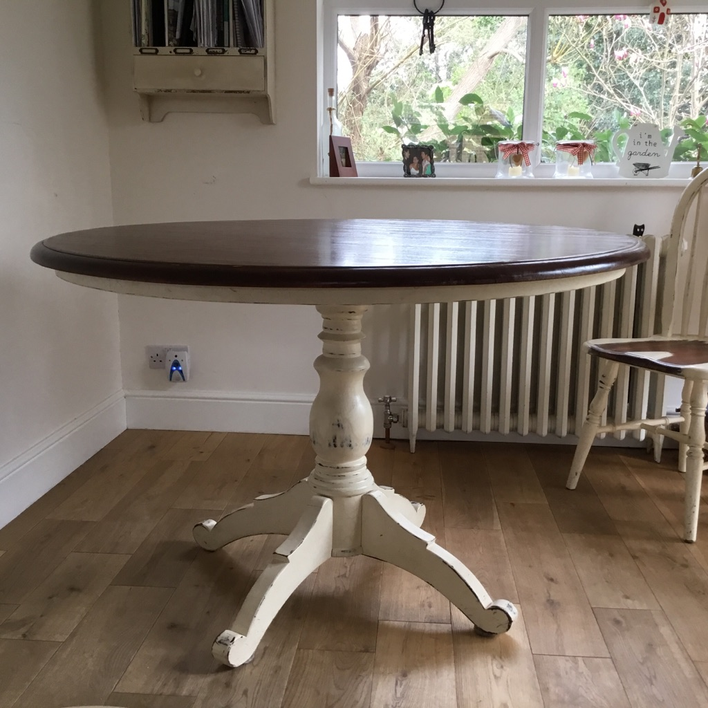 Laura Ashley Bramley Cream Round Table and 9 matching Chairs