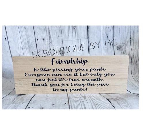 Friendship... plaque