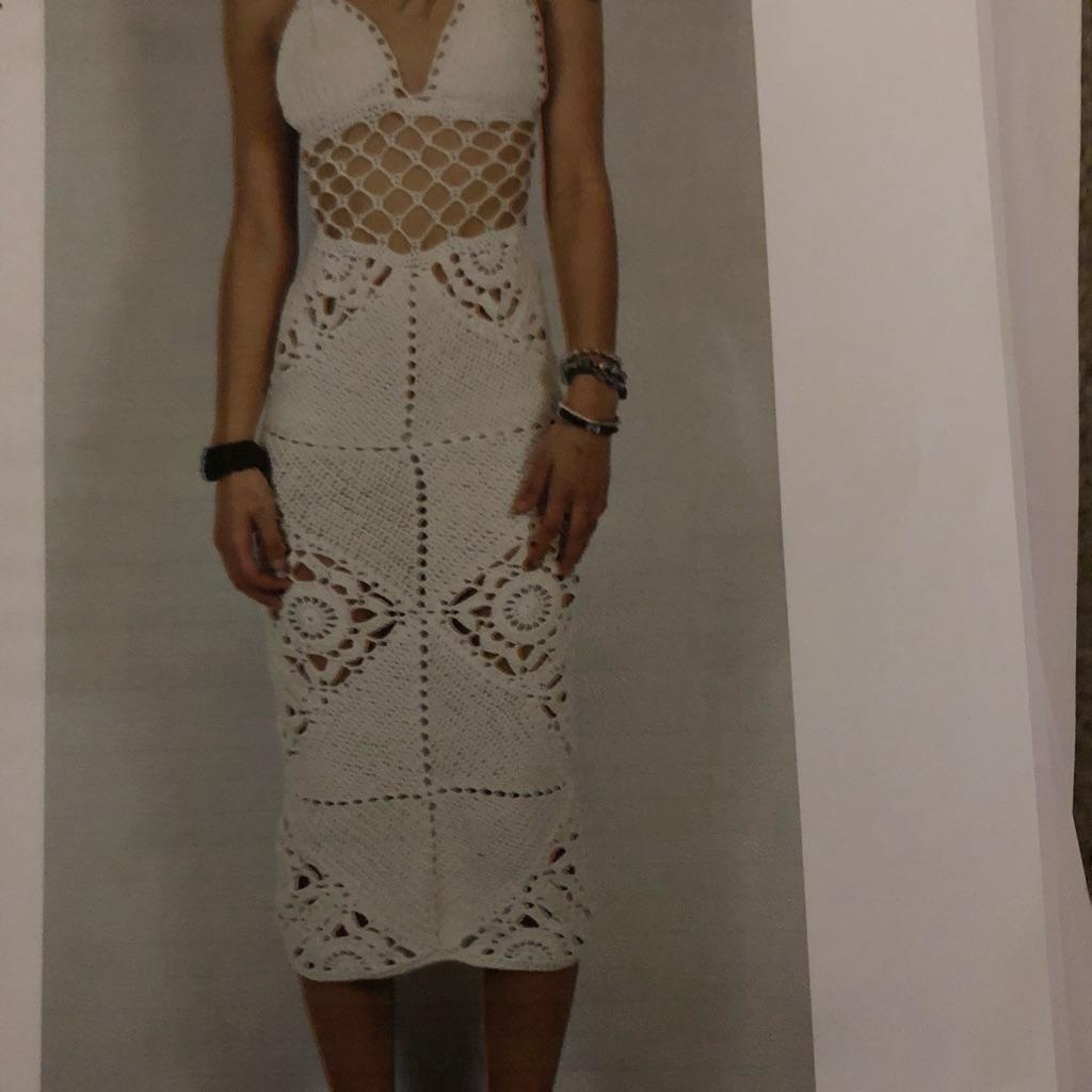 White crochet dress. Sz 8/10