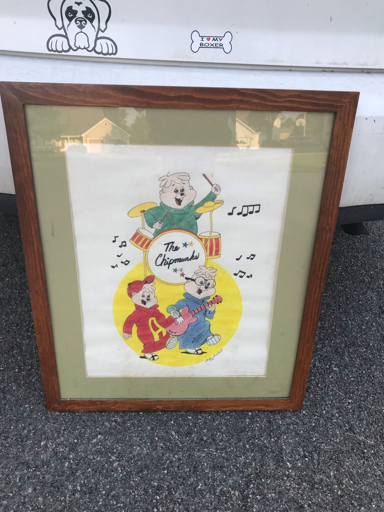Alvin and the chipmunks picture signed too