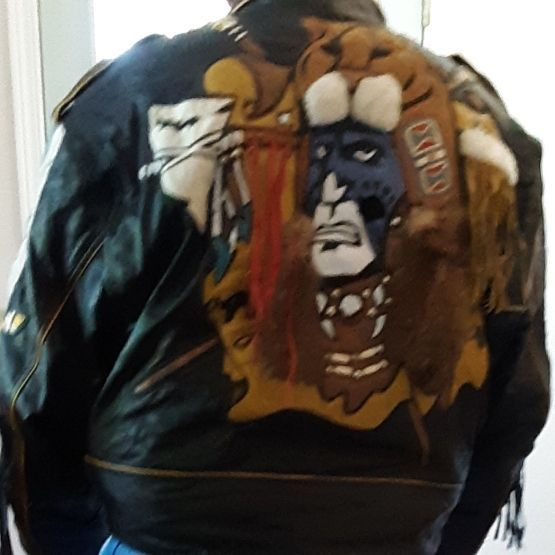 Black native leather jacket