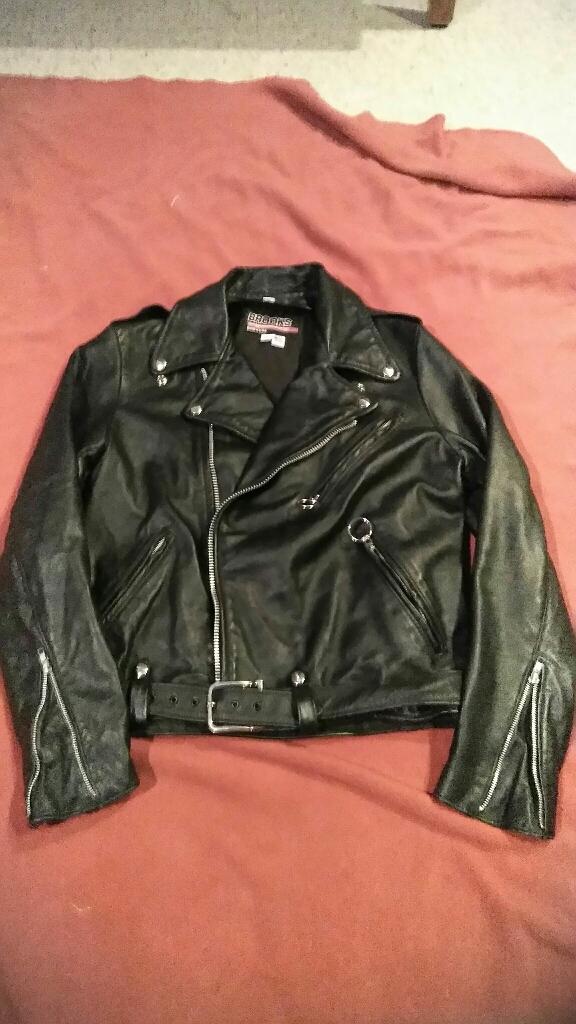 Brooks Leather Biker Jacket