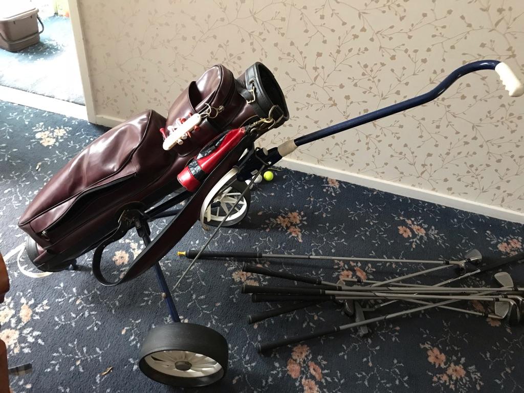 Slazenger left handed golf clubs