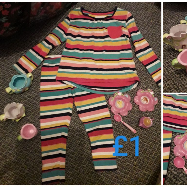 Girl Clothes toys size 3-4 years
