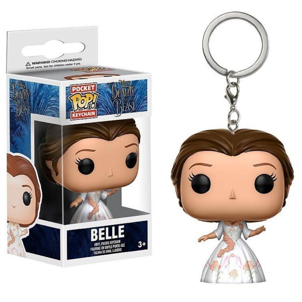 Brand new funko pop belle keychain