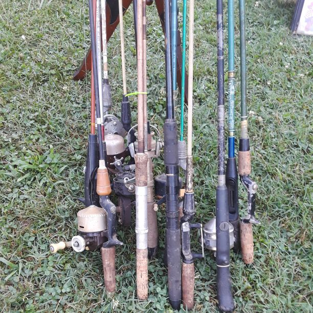 Antique rod and reels