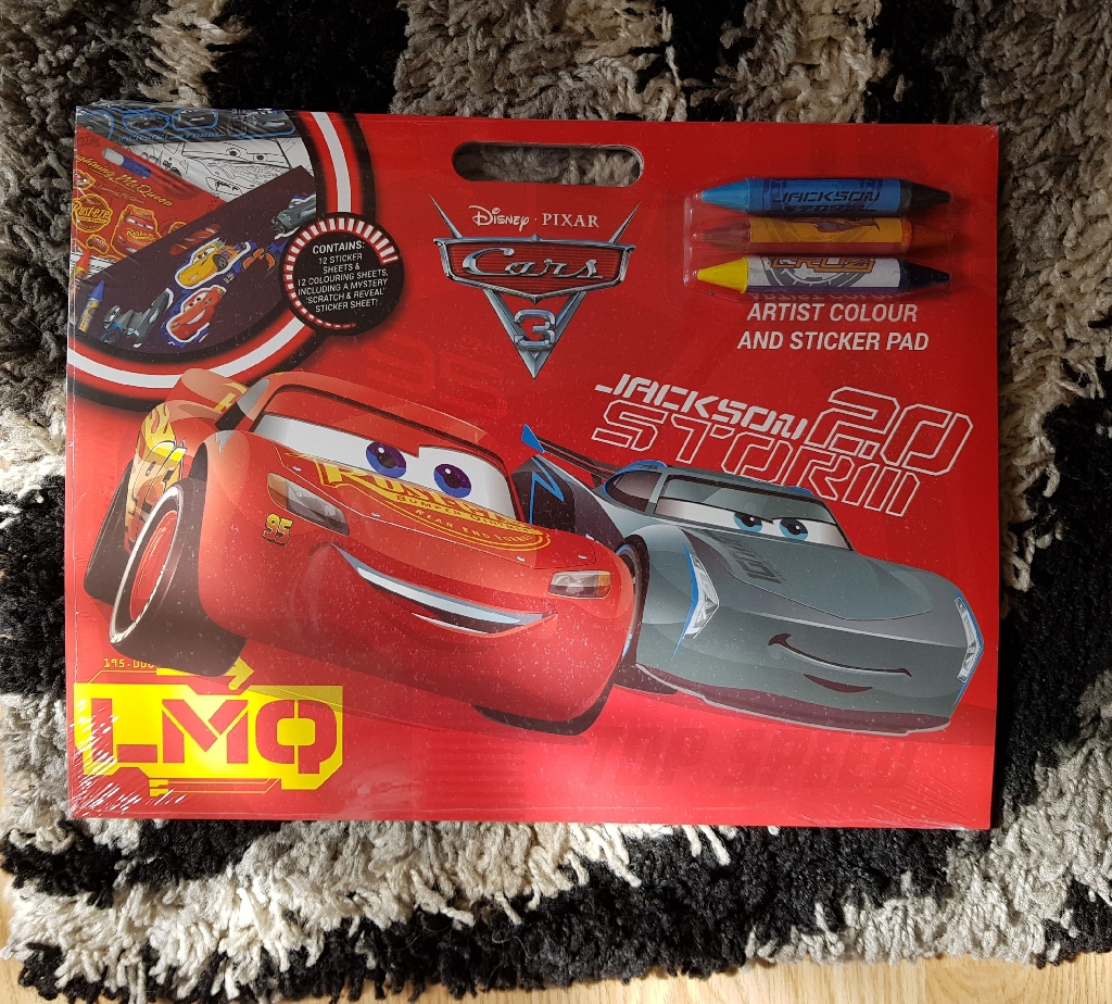 Brand new disney cars colour and sticker artsit pad
