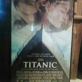 Titanic framed movie theater poster