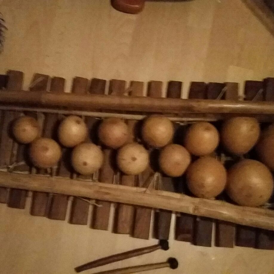 Genuine African marimba with orignal  sticks