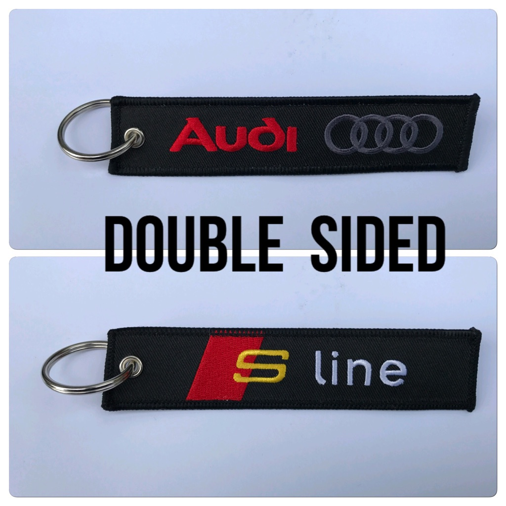 Embroidered Key Ring Keyring Key fob Gift Audi S Line Sport A1A2A3A4A5A6A7A8 Q3Q5