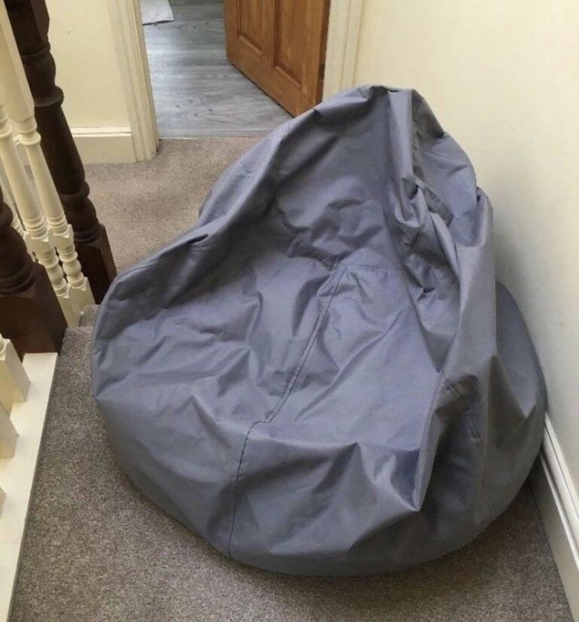 Grey bean bag, like new