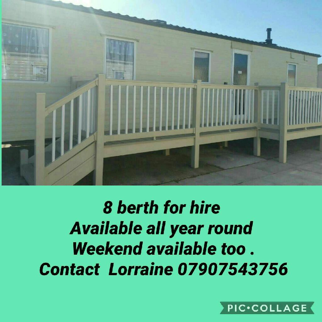 8 berth static caravan for hire at lyons robinhood site rhyl north wales
