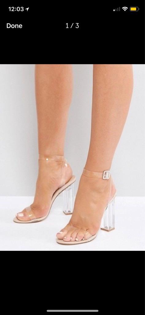 BRAND NEW Perspex Heels in UK4