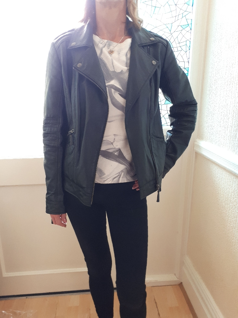 South REAL leather jacket size 12