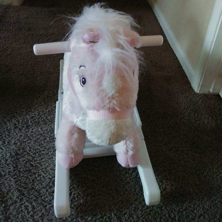Pink riding horse