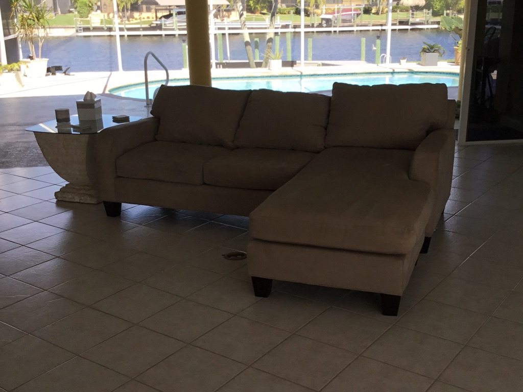 Beige Sofa with Chaise