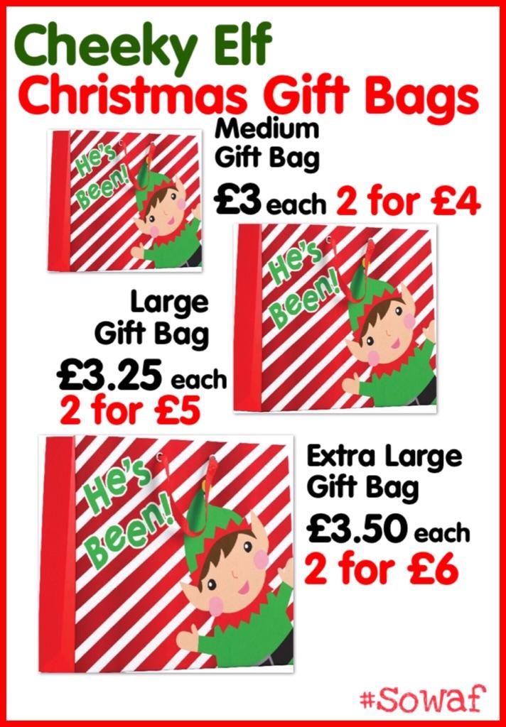 Cheeky Elf Christmas Gift Bag