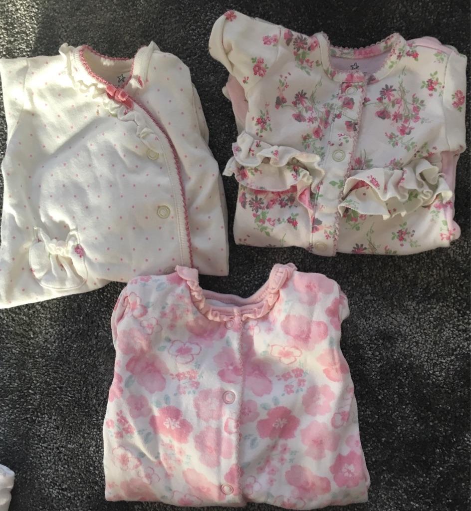 Baby girls newborn clothing bundle 40+ items