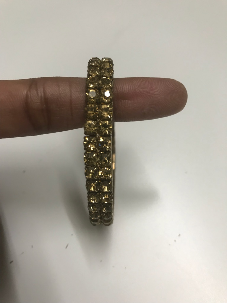 Gold color stoned bracelet/bangle
