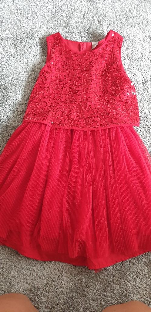Girls red sequence dress