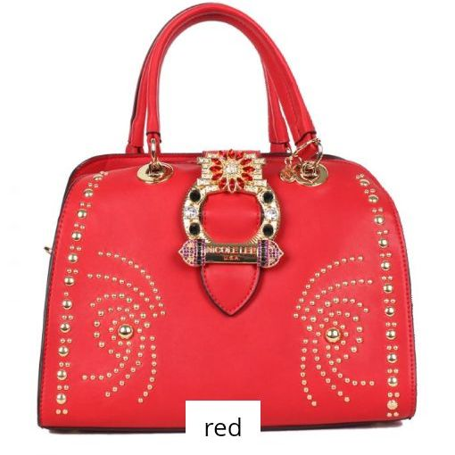Red handbag nicole lee