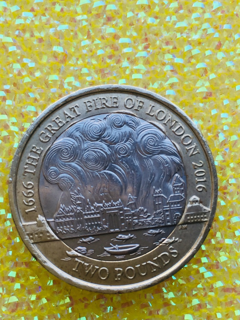 3 pound coin the great fire of London 2016.