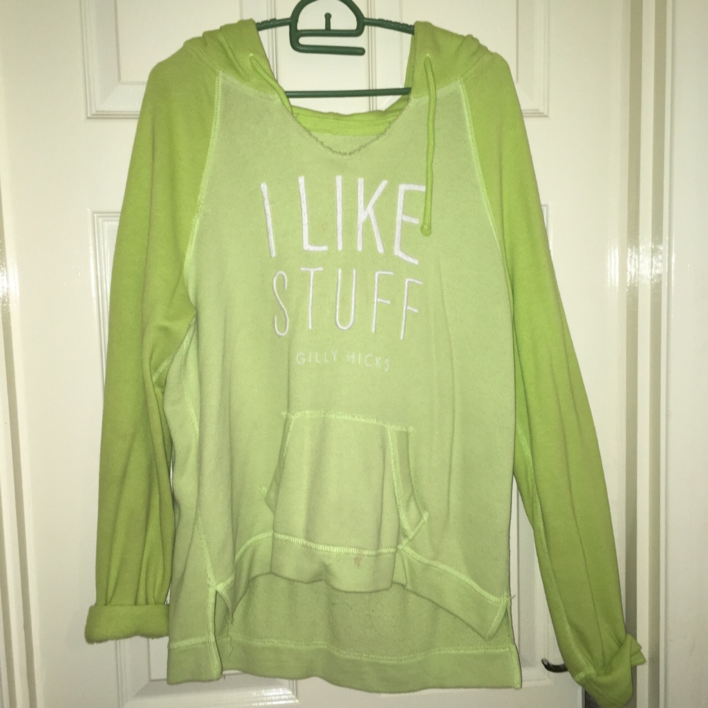 Gilly hicks lime green hoodie