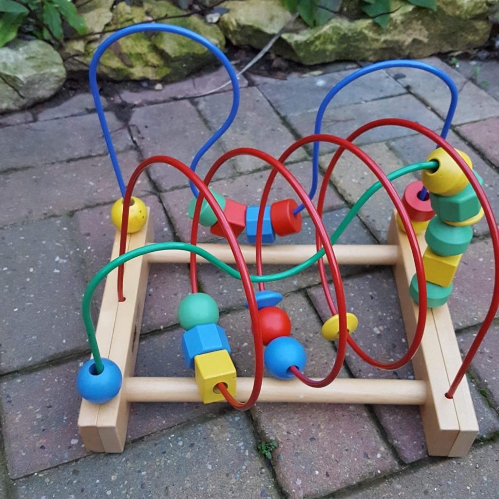 Wooden bead maze