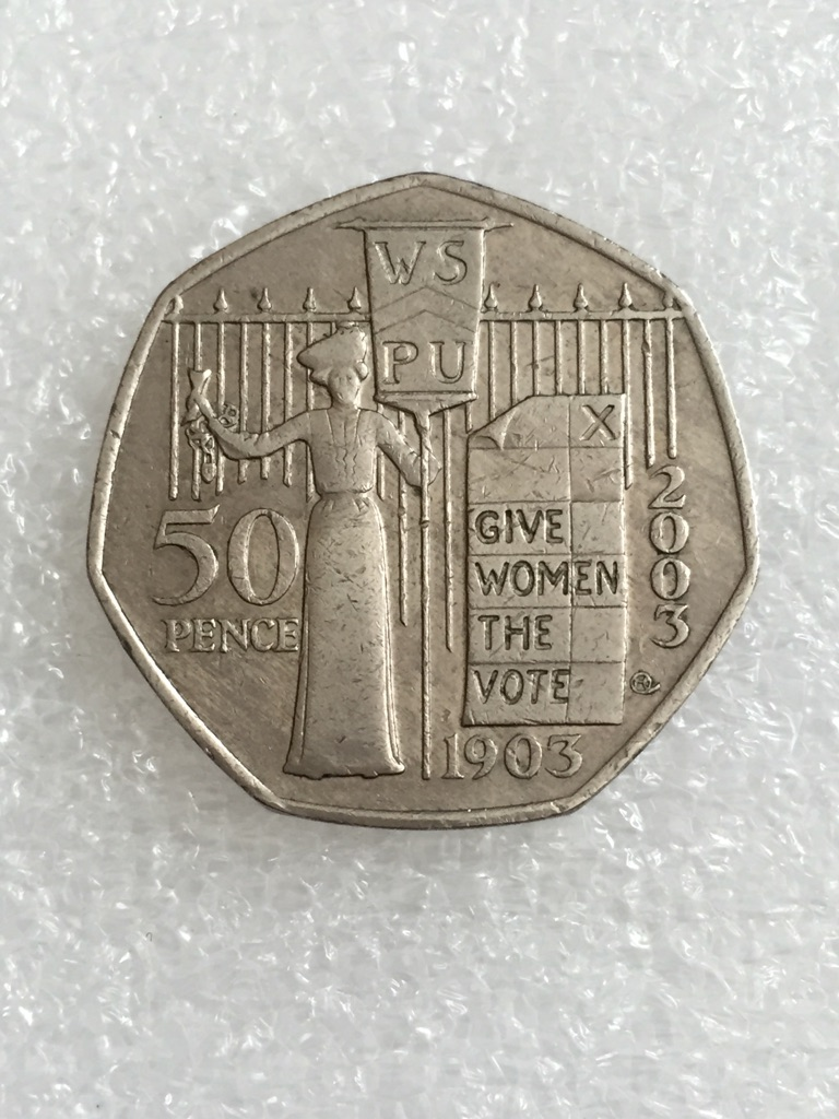 50p coin gives women the vote 2003.