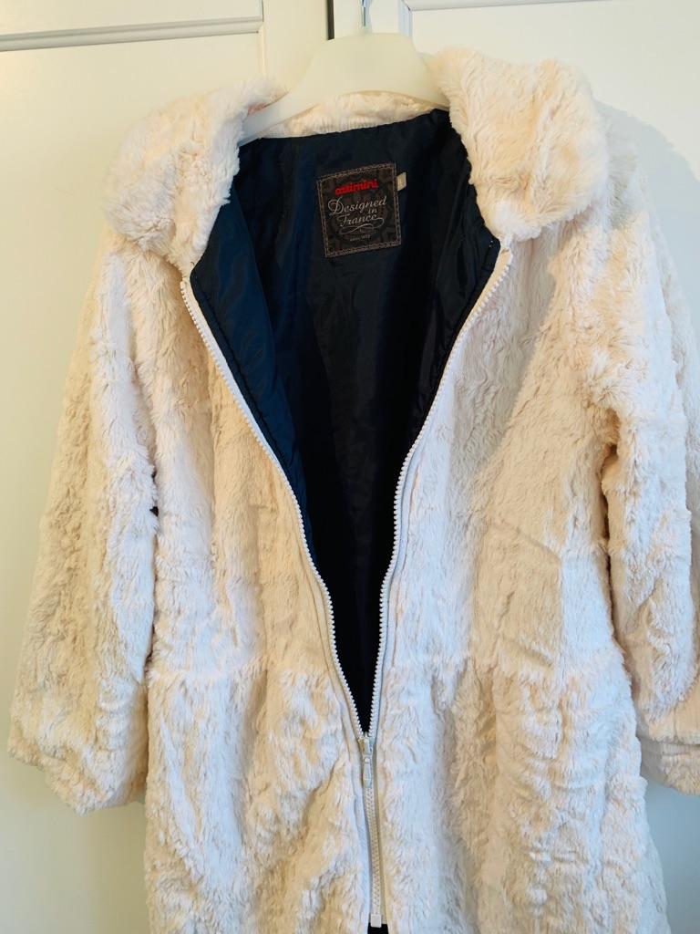 Catamini Faux Fur Girl's coat - Aged 8 year