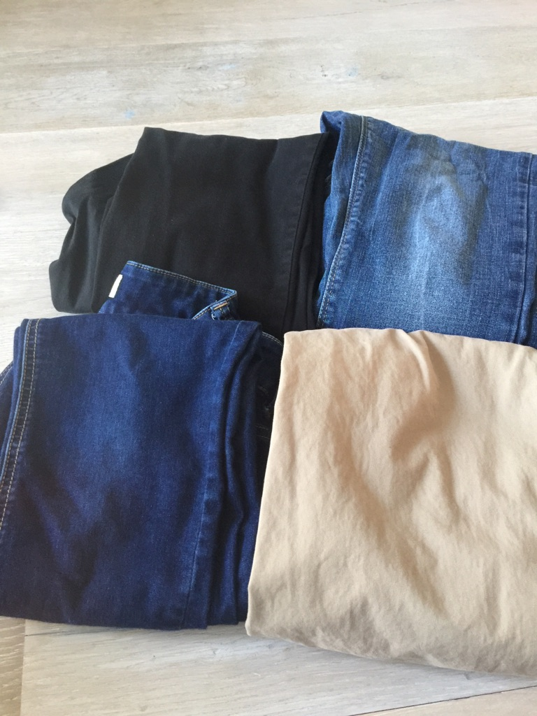 Bundle of trousers/ jeans maternity size 10