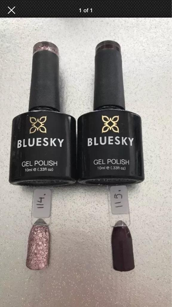 Cuccio and bluesky gel polish