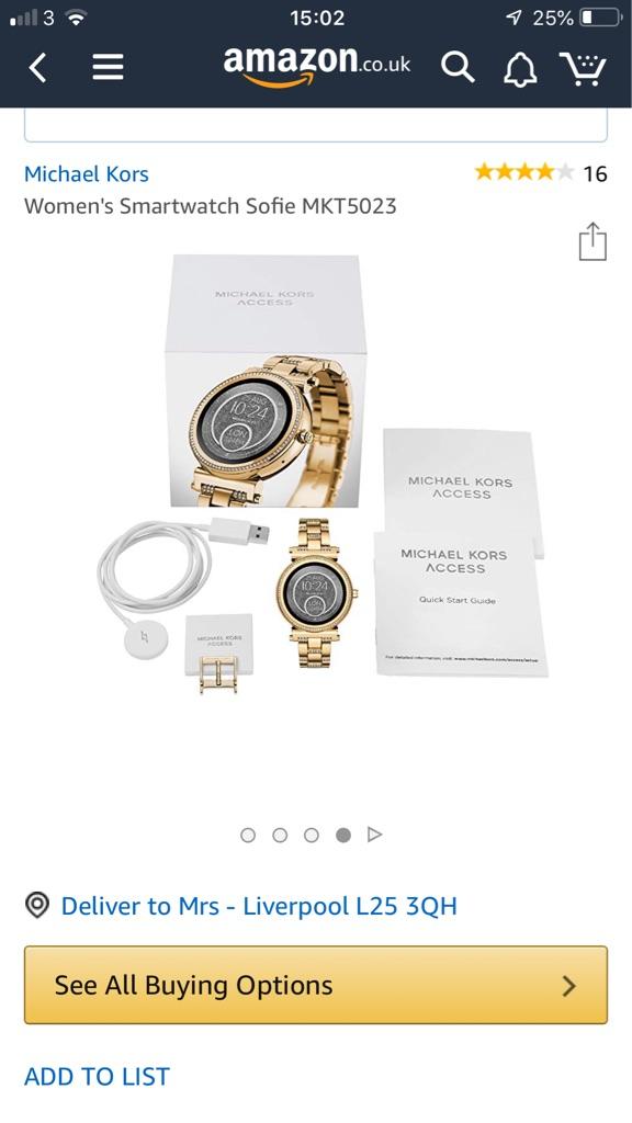 Michael kors sofie smart watch