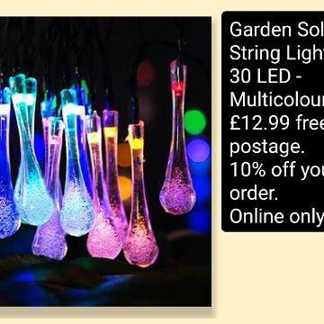 💥Garden Solar String Lights 30 LED - Multicolour